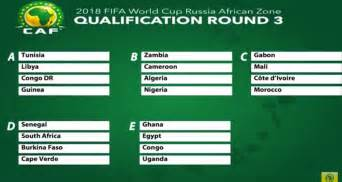 groups of africa s draw for 2018 fifa world cup