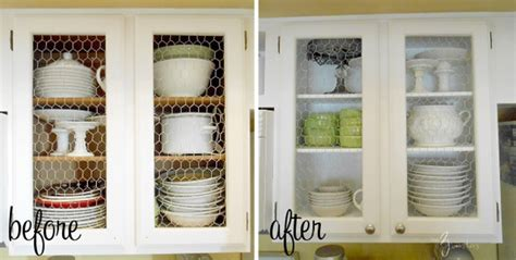chicken wire kitchen cabinets 8 low cost diy ways to give your kitchen cabinets a makeover