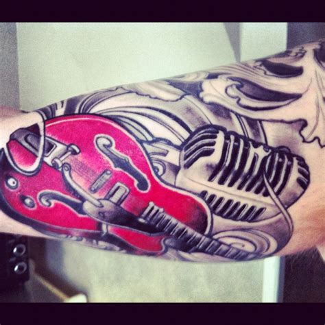 tattoo microphone and guitar pinterest discover and save creative ideas