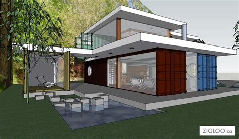 flw container house zigloo custom container home design