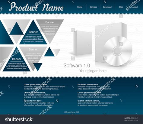 site planning software web site design template software box stock vector