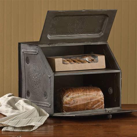 Summer Kitchen Ideas country decor black star metal bread box