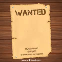 Free Wanted Poster Template by Wanted Poster Template Vector Free