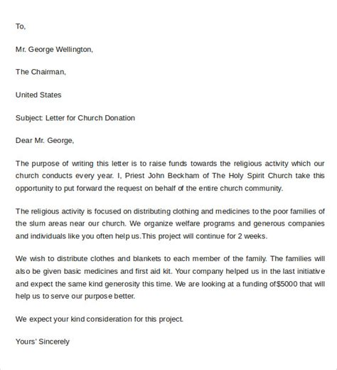 Thank You Letter For Donation Of Blankets Sle Donation Letter Format 9 Free Documents In Word Pdf
