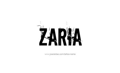 zaria name tattoo designs