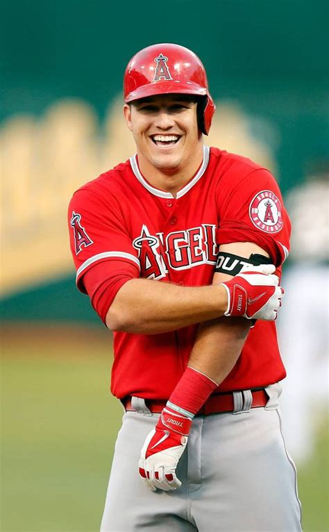 hottest baseball players mike trout from hot baseball players e news