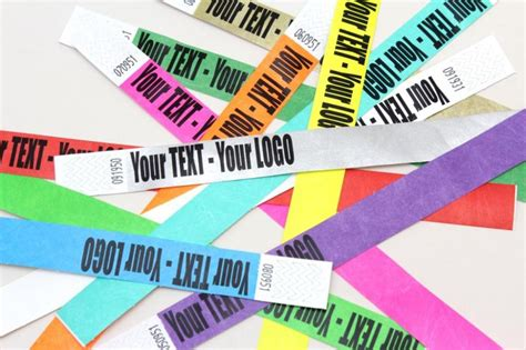 How To Make Paper Wristbands - tyvek paper wristbands 1 quot 3 4 quot size plain custom print