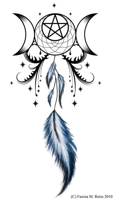 triple goddess tattoo designs goddess pentagram dreamcatcher tattoos