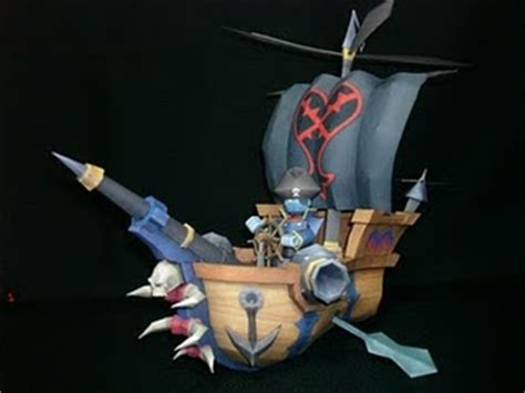 Kingdom Hearts Papercraft - kingdom hearts battle ship papercraft papercraft