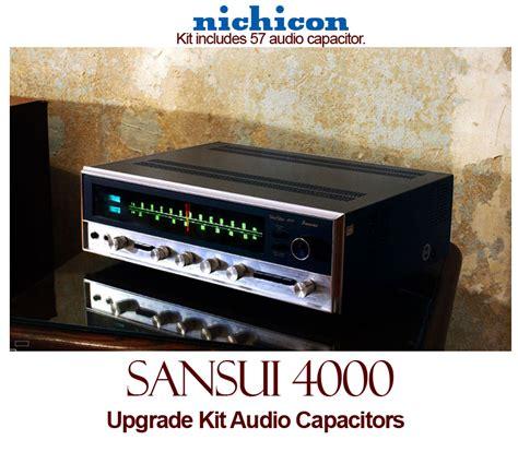 capacitor upgrade sansui 4000 upgrade kit audio capacitors