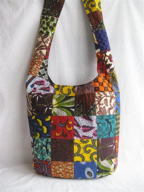 Alibi Afrro Sling Bag Silver print patchwork sling bag ethnic purse bright