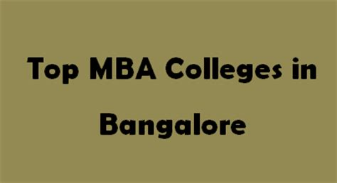 Bangalore Mba Distance Education 2014 by Top Mba Colleges In Bangalore 2015 2016 Exacthub