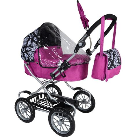 baby doll pram blk purple mamas papas x cel damask baby