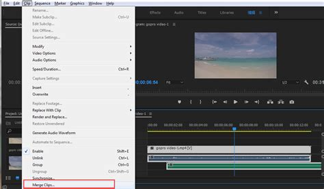 adobe premiere pro merge clips how to merge combine clips in adobe premiere pro