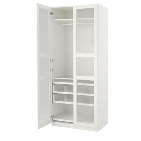 ikea glass wardrobe pax wardrobe white tyssedal glass 100x60x236 cm ikea