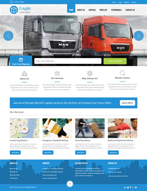 templates for courier website courier software templates templates design for courier