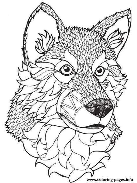 coloring books for wolves more advanced animal coloring pages for teenagers tweens boys zendoodle animals wolves practice for stress relief relaxation books print high quality wolf mandala coloring pages
