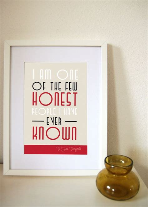theme of honesty in the great gatsby great gatsby quote print i am one of the few honest