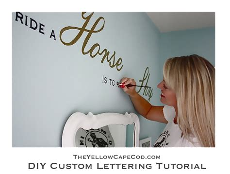wall quotes tutorial the yellow cape cod diy custom wall lettering tutorial