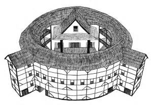 The Globe Theatre Outline by Shakespeare S Globe Theatre Pen Drawing By Mich