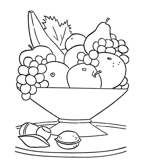 Basket Of Vegetables Coloring Page Coloring Pages Fruits Basket Coloring Pages