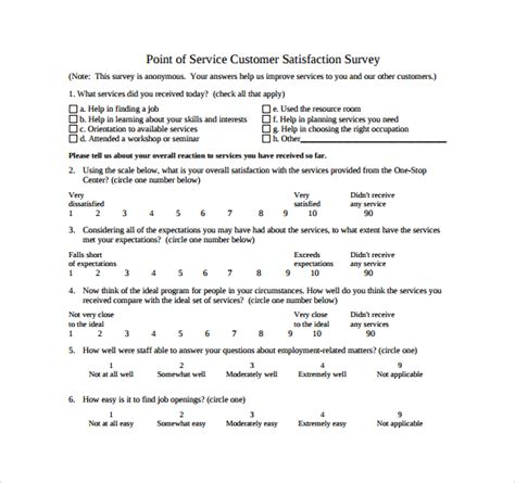 sle customer satisfaction survey 14 documents in pdf