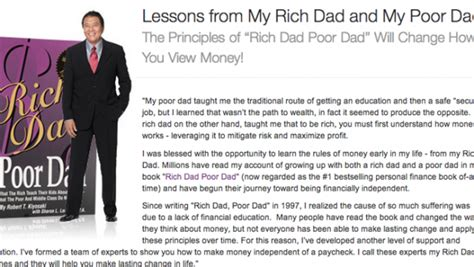 rich dad poor dad quotes custom 10 lessons learned from rich dad poor dad robert kiyosaki
