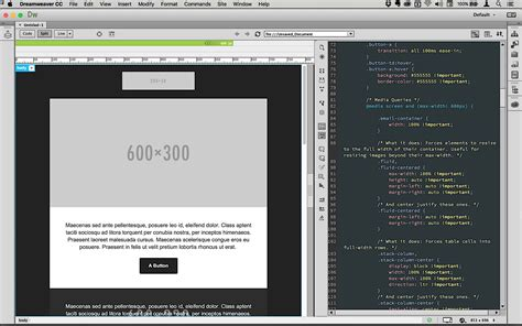 templates for dreamweaver cc email templates in dreamweaver cc