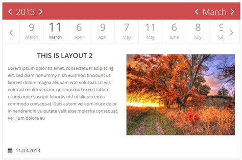 jquery layout event jquery flat event calendar responsive timeline by