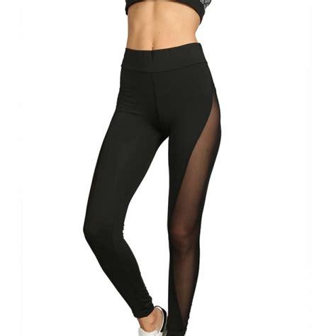 pattern mesh leggings black full mesh patchwork women s leggings printed yoga