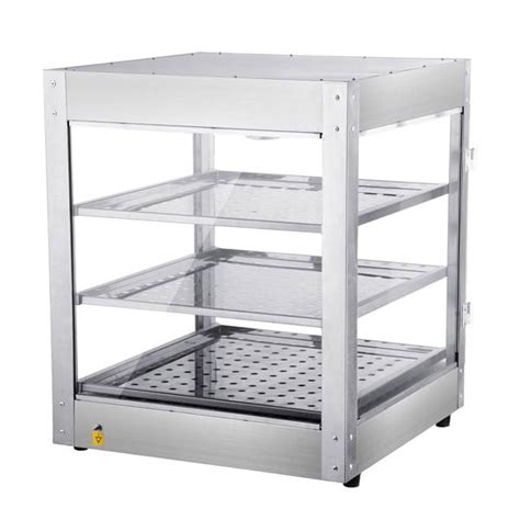 3 tier food warmer display cabinet