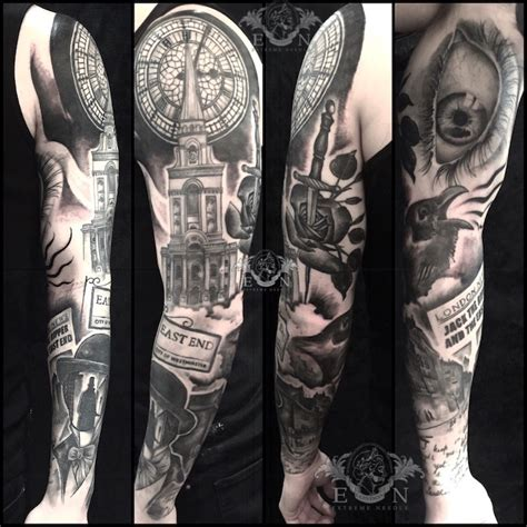 jack the ripper tattoo aitor black and grey realistic artist