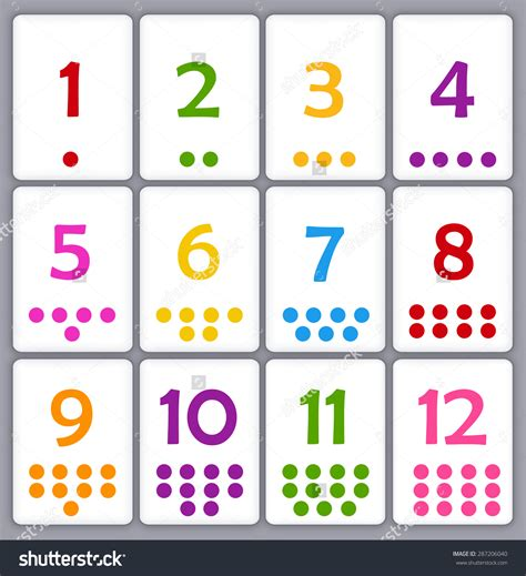 kindergarten printable numbers flashcards printable number cards with dots pictures to pin on