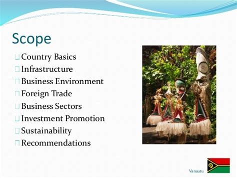 Scope Of Mba In Import And Export by Mba Vanuatu Business Environment Country Report For