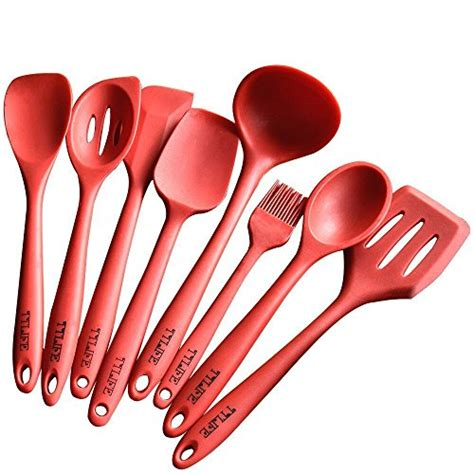 ustensiles de cuisine en silicone ttlife cadeau cuisine set de 8 ustensiles de cuisine en