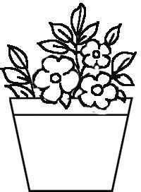 How To Draw Nature Step By Step Simple Flower Pot Draw Color It