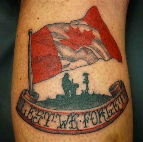 18 patriotic canadian flag tattoos tattooblend