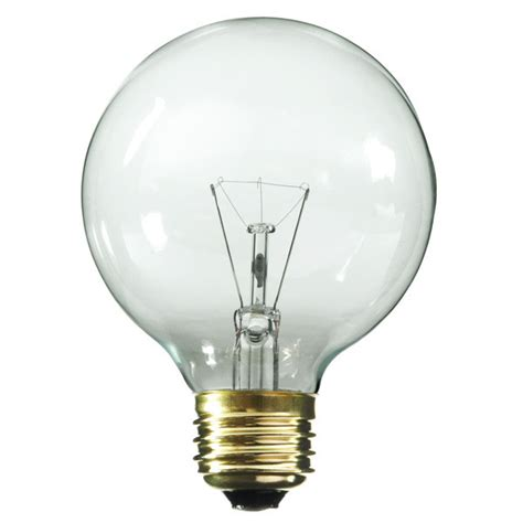 25w g25 globe light bulb medium base clear