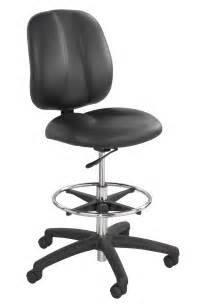 Safco apprentice black contoured tall vinyl office chairs