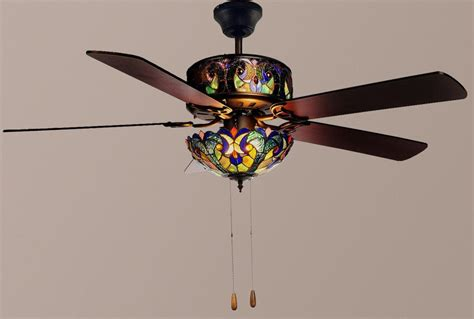 ceiling fan with stained glass light stained glass ceiling fan to decorate your room john