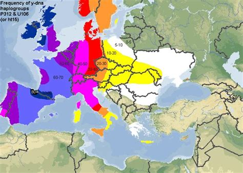 haplogroup l the frequency of y dna haplogroup r p312 along with its