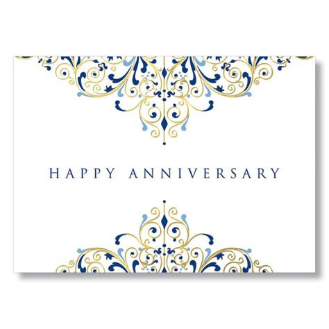 free printable anniversary cards for employee anniversary flourish gold foil work anniversary card