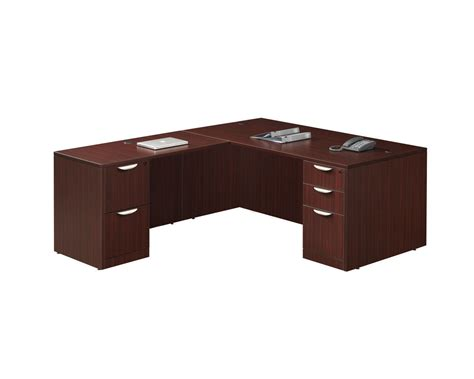 Computer Desk With Return Classic Computer Desk Package With Return And Two Pedestal Files