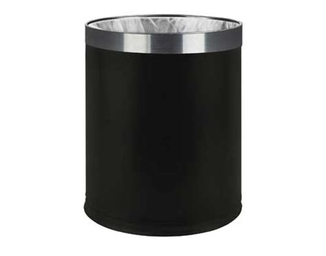 waste bin for bedroom hotel bedroom waste bin double skin 7 litre black