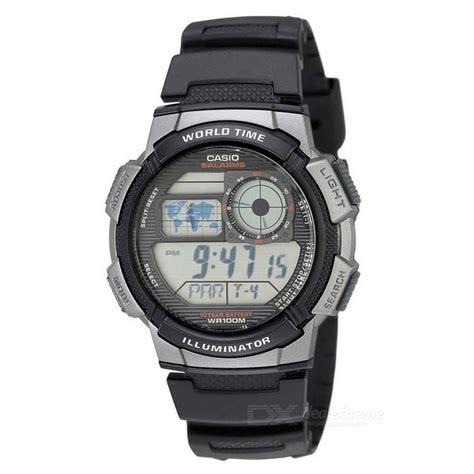 casio ae 1000w 1bvdf digital quartz black silver free shipping dealextreme
