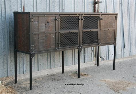 Salvaged Kitchen Cabinets For Sale by Buy A Custom Buffet Hutch Vintage Industrial Modern