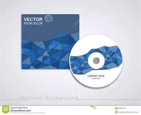 cd jacket design template blue mosaic background design for cd cover stock vector