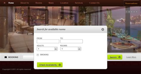 design online booking system online hotel reservation web web design in pattaya