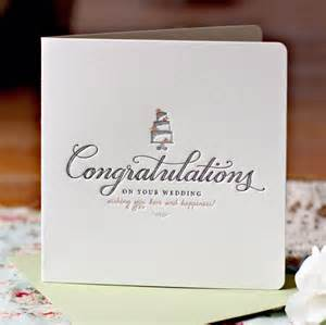 congratulations wedding card letterpress congratulations on your wedding card buy