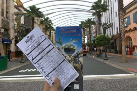 timers guide  universal studios singapore